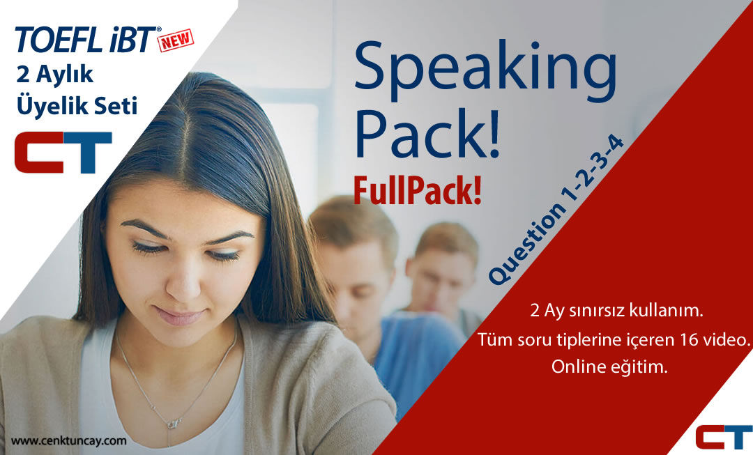 New Toefl-iBT Speaking Campus Announcement Videoları